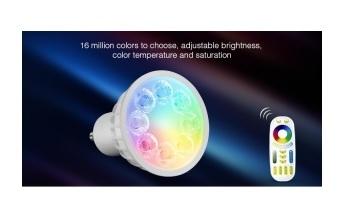 LED Lampe 4W, GU10, RGB+CCT